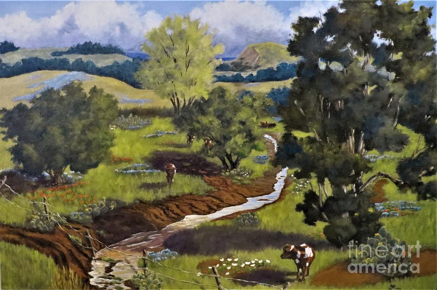 Hill Country Pasture by Beverly Theriault