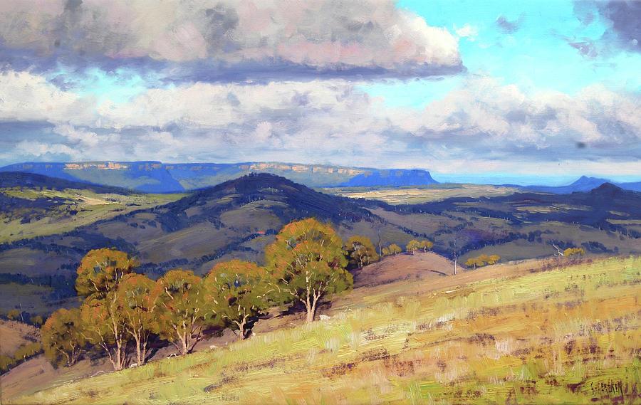 Hill Shadows Kanimbla Painting