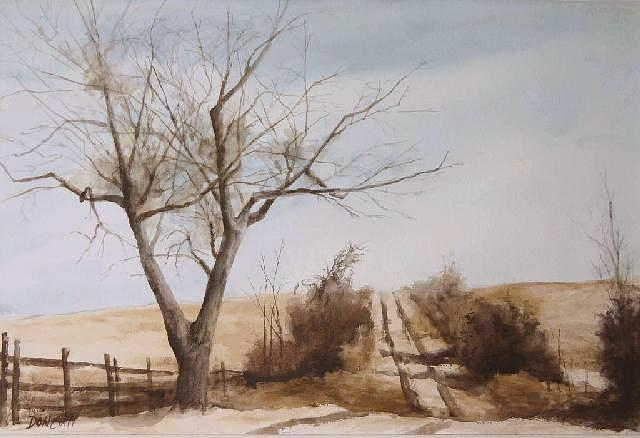 Watercolor Painting - Hill Top by Don Cull
