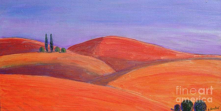 Tuscan Painting - Hill Tops by Lilibeth Andre