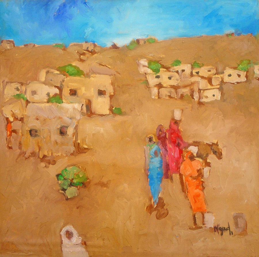 Landscape Painting - Hilla 2 by Negoud Dahab