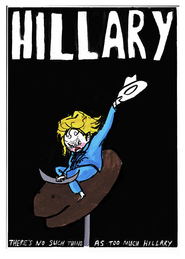 hillary clinton campaign poster by edward steed