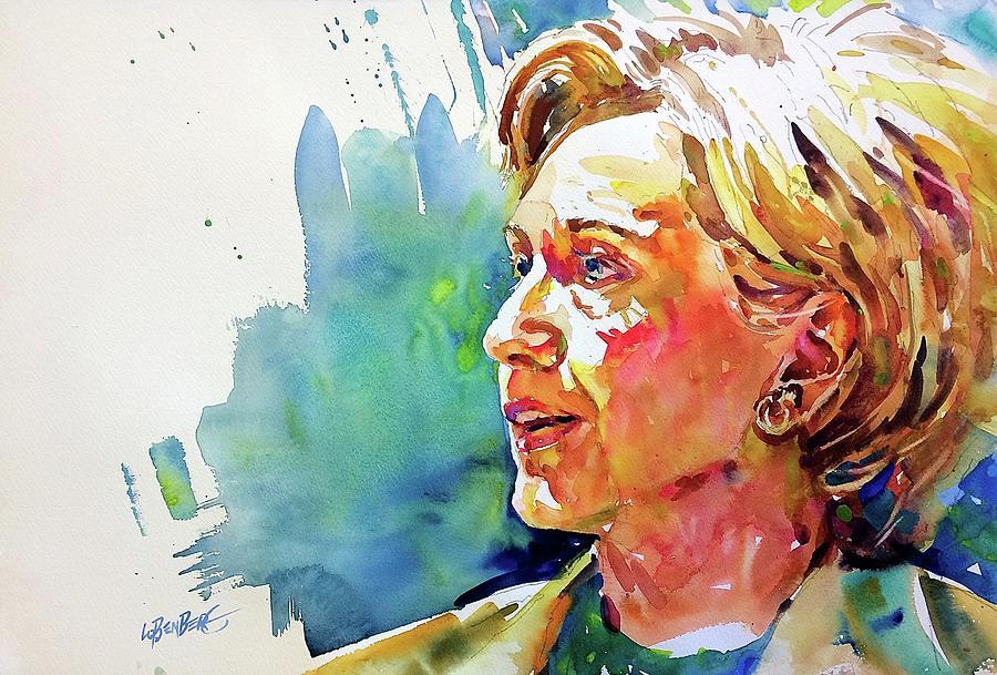 Hillary Clinton Painting by David Lobenberg
