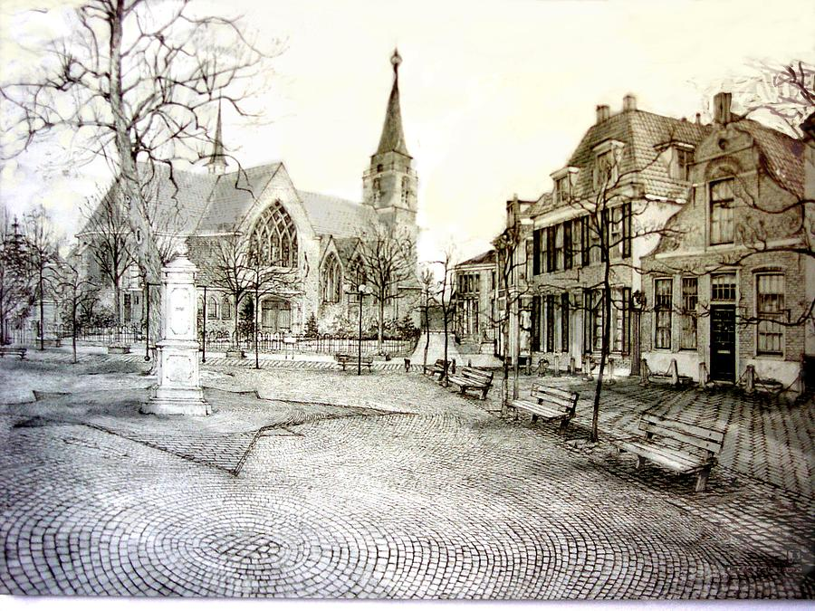 Hillegom The Netherlands Drawing by TBH Fine Art