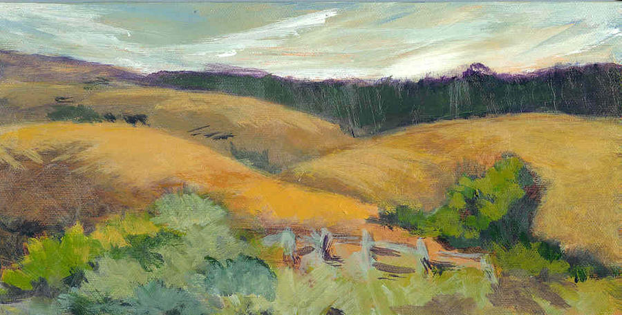 Hills Above Silicon Valley Painting by Barbara Moore