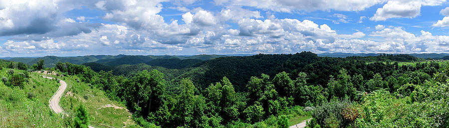 Eastern Ky Photograph - Hills and Clouds by Lester Plank