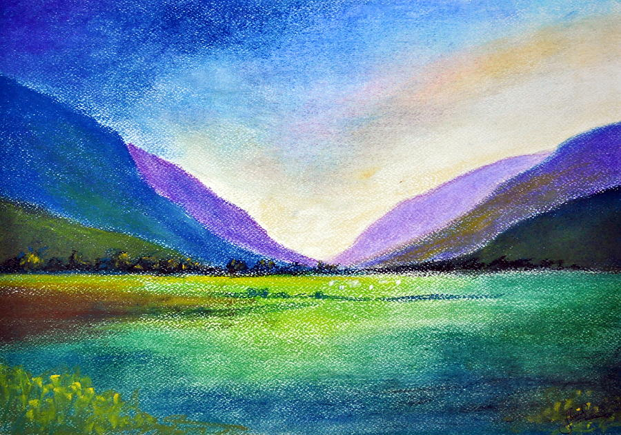 Hill Painting - Hills and Vale by Shreekant Plappally