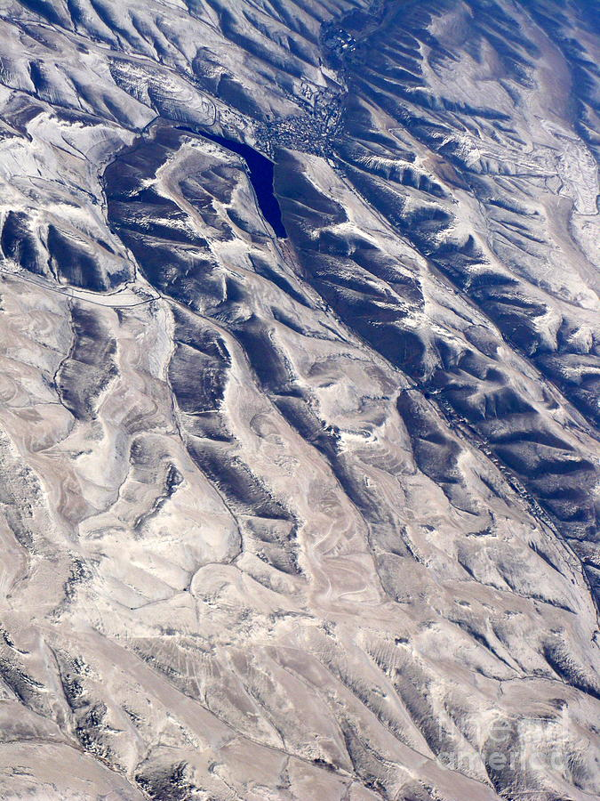 Aerial Photograph - Hills And Valleys Aerial by Carol Groenen