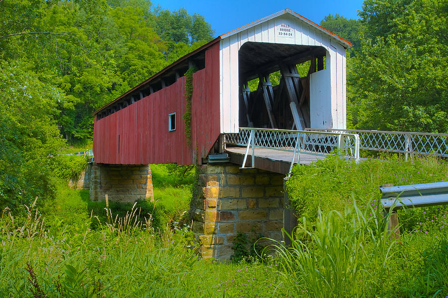 Hills Covered Bridge Photograph
