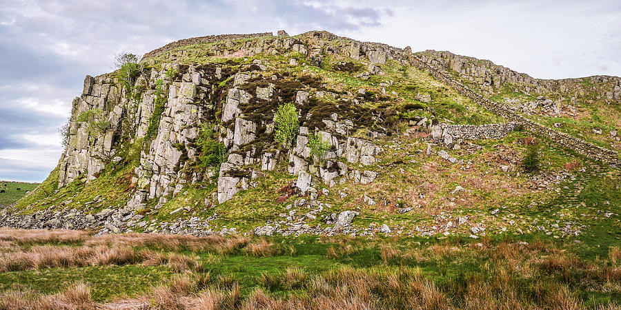 Hadrians Wall Photograph - Hills Of Hadrians Wall England by Lexa Harpell