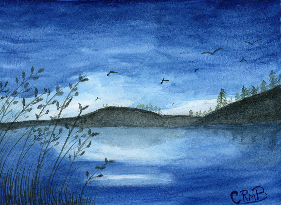 Hills with Blue Sky by Candace Bailly