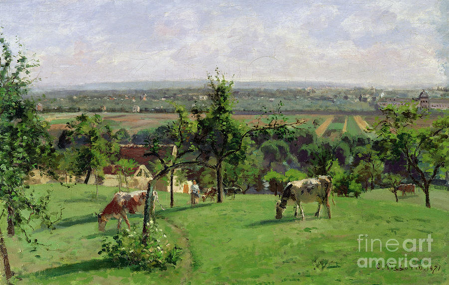 Camille Pissarro Painting - Hillside Of Vesinet by Camille Pissarro