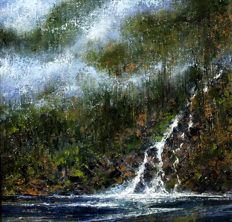 Painting Painting - Hillside Run-off by Jim Gola