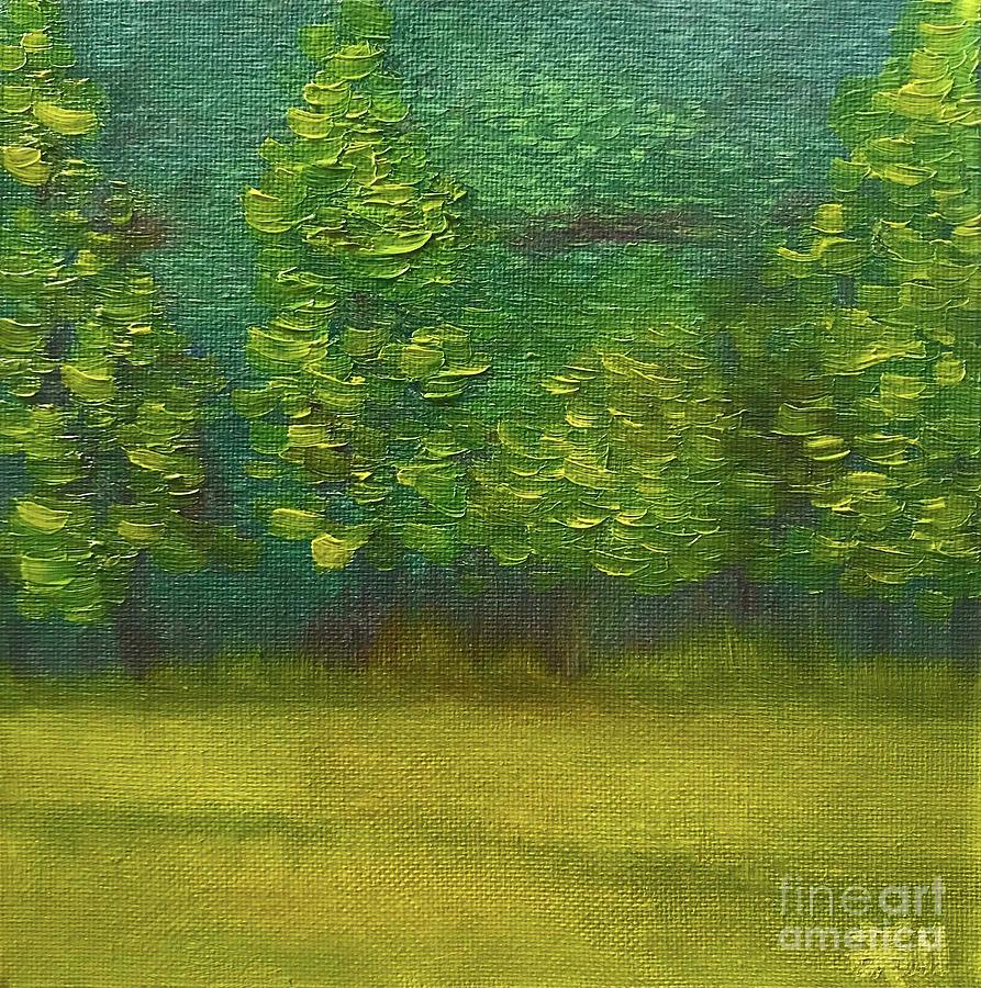 Hillside Painting - The Lakeside  by Wonju Hulse