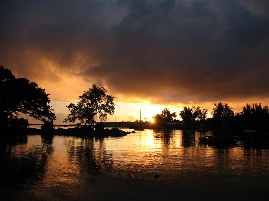 Sunrise Photograph - Hilo Gold by Ron Holiday Broomell