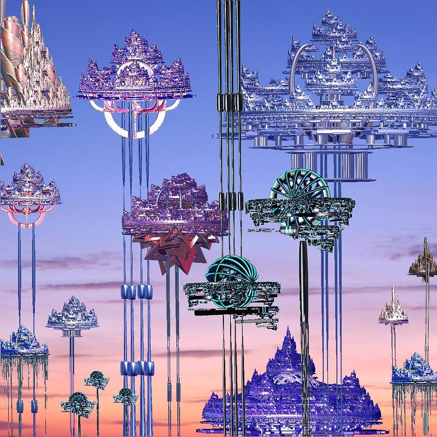 Sky Digital Art - Hilton Heaven Hotels by Tabasco Raremaster