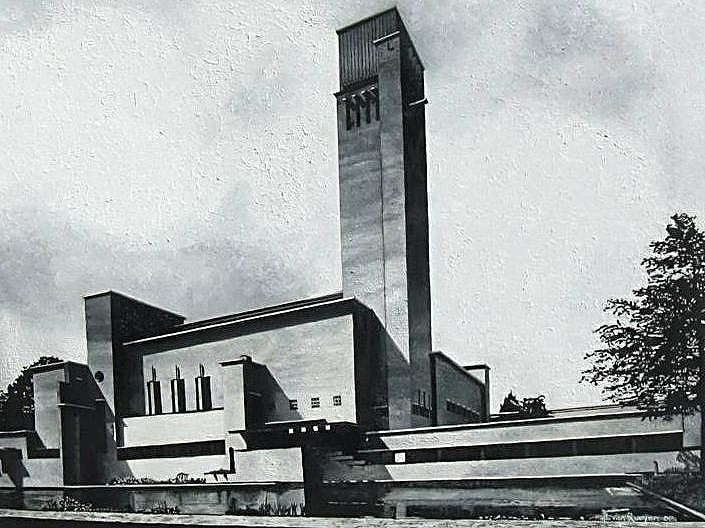 Architectural Painting - Hilversum Town Hall by Ben Van Rooyen