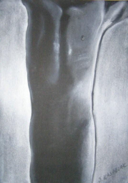 Nude Painting - Him by Joanna  Kasprzak
