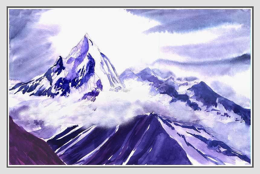 Landscape Painting - Himalaya by Anil Nene