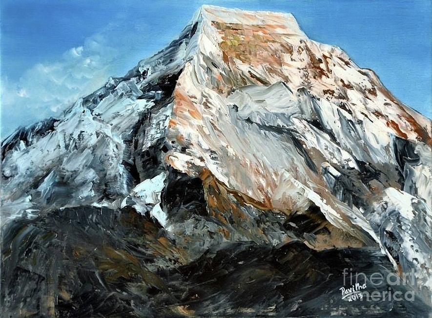 Himalaya Painting - Himalaya by Pavitha Ashwin