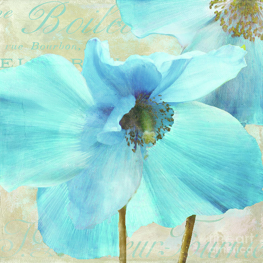 Himalayan Blue Poppy Painting