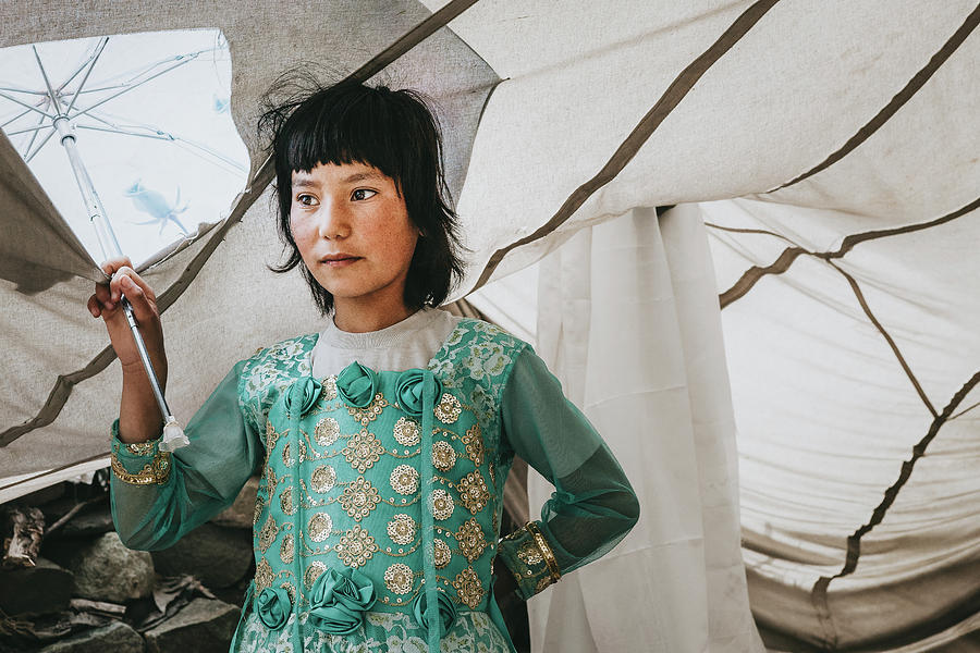 2013 Photograph - Himalayan Girl by Marji Lang