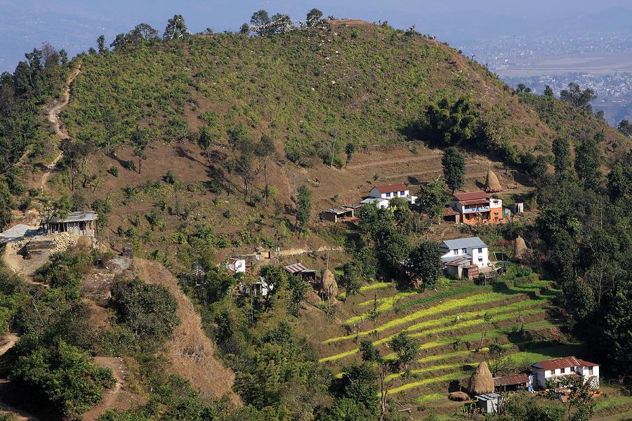Himalayan Mountain Village Photograph
