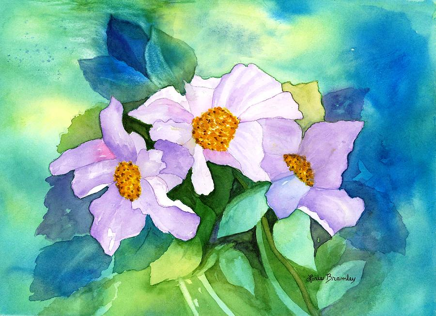 Watercolor Painting - Himalayan Poppies by Lorie Bramley