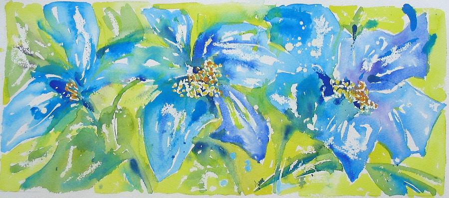 Blue Flowers Painting - Himalayan Poppy by June OConnell