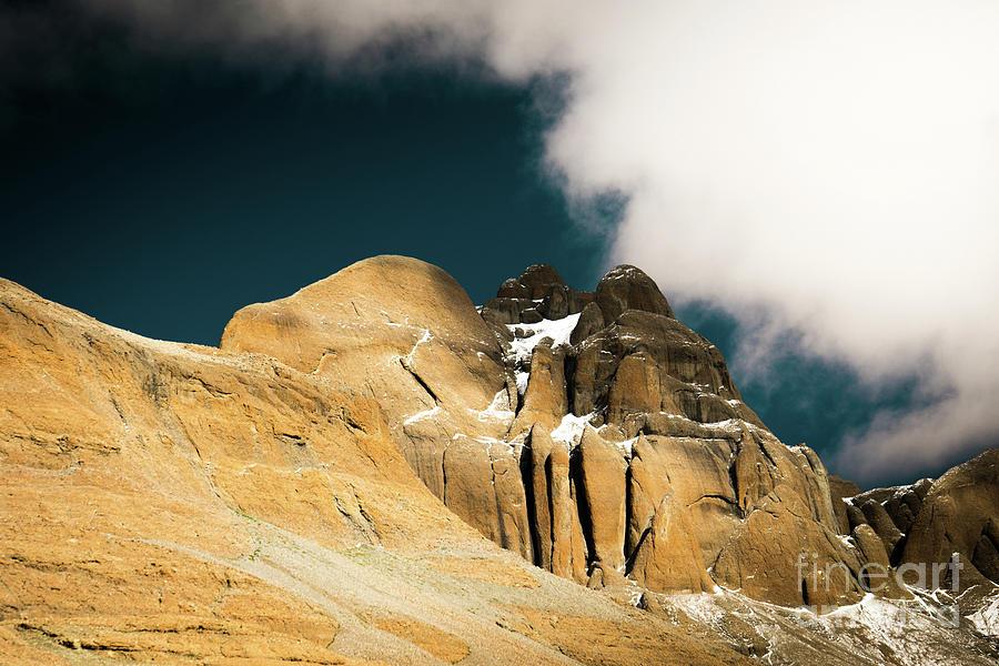 Tibet Photograph -  Himalayas Mountain Kailas Kora Tibet Yantra.lv by Raimond Klavins