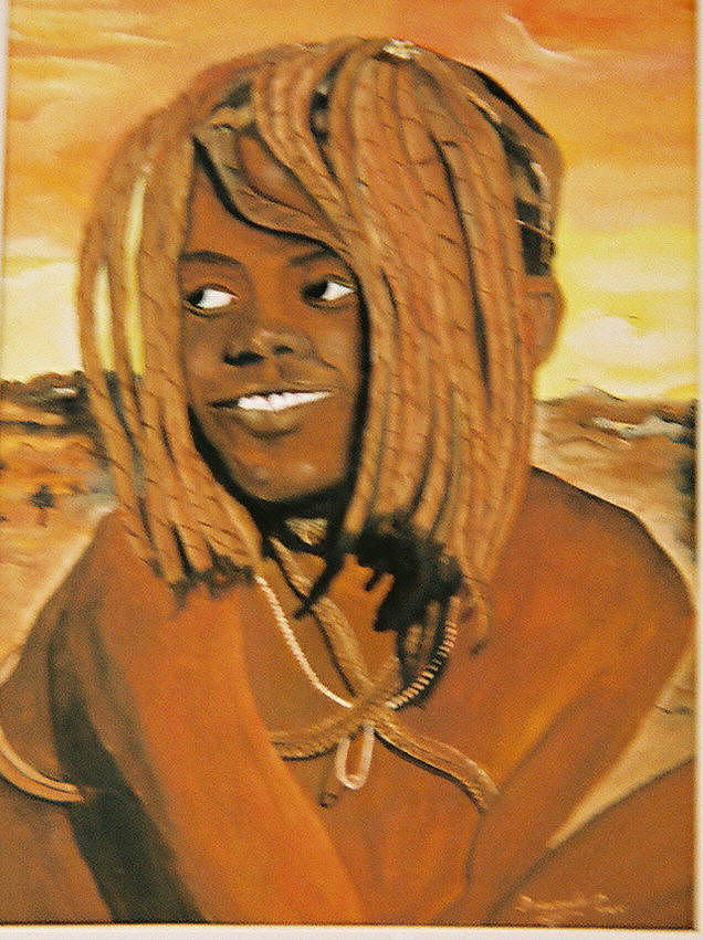 Figure Painting - Himba Girl by Desenclos Patrick