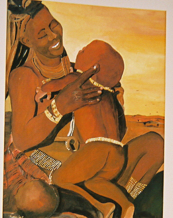 Figure Painting - Himba Mom by Desenclos Patrick