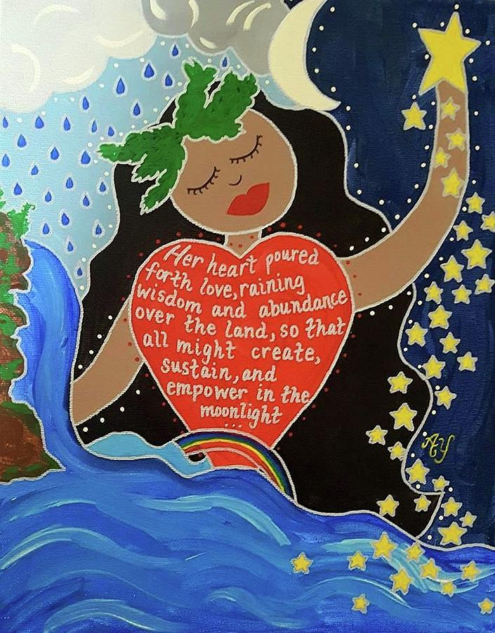Holy Painting - Hina by Angela Yarber