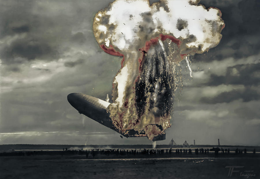Hindenburg Disaster Colorization Photograph by Franchi Torres