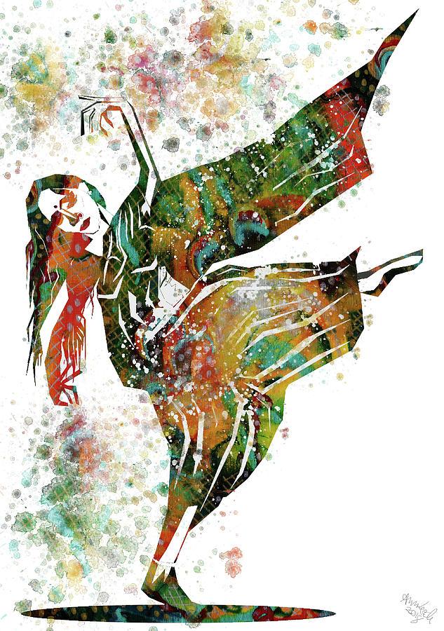 Hindu Prints Mixed Media - Hindu Dancer by Ann Leech