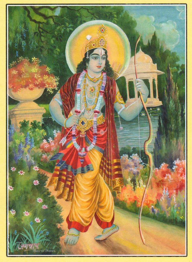 Hindu God Ram Religious Painting Artwork India Painting by ...