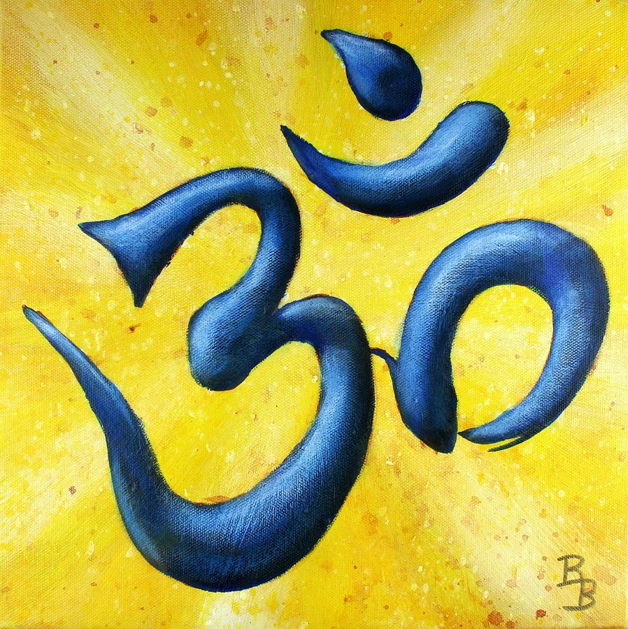 Hindu Painting - Hindu Om Symbol Art by Bob Baker