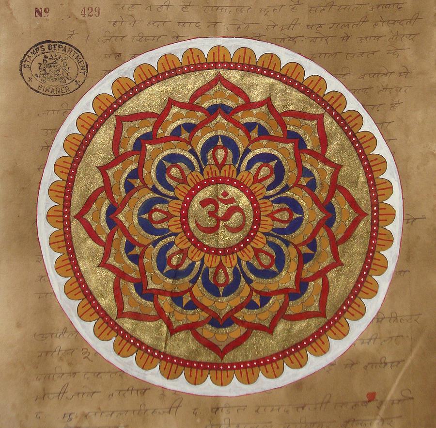 Hindu Vedic Artwork Om Yoga Kundalini Meditation Mandala Painting Artist India By A K Mundra