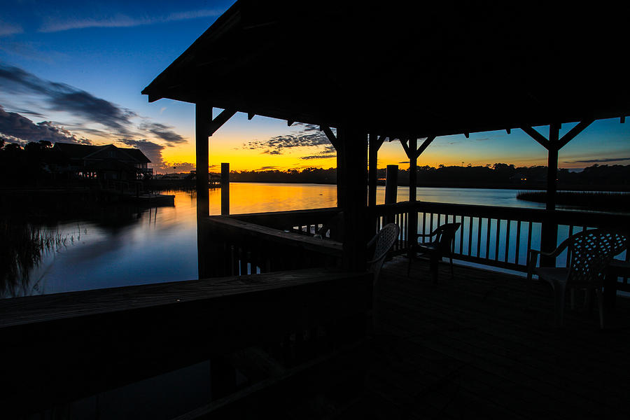 Landscape Photograph - Hinson House Dock Verison Two by Bill Cantey