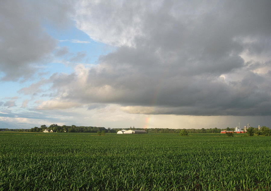Landscape Photograph - Hint Of A Rainbow by Patrick Murphy