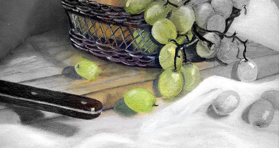 Still Life Painting - Hint Of Color by Penny Everhart