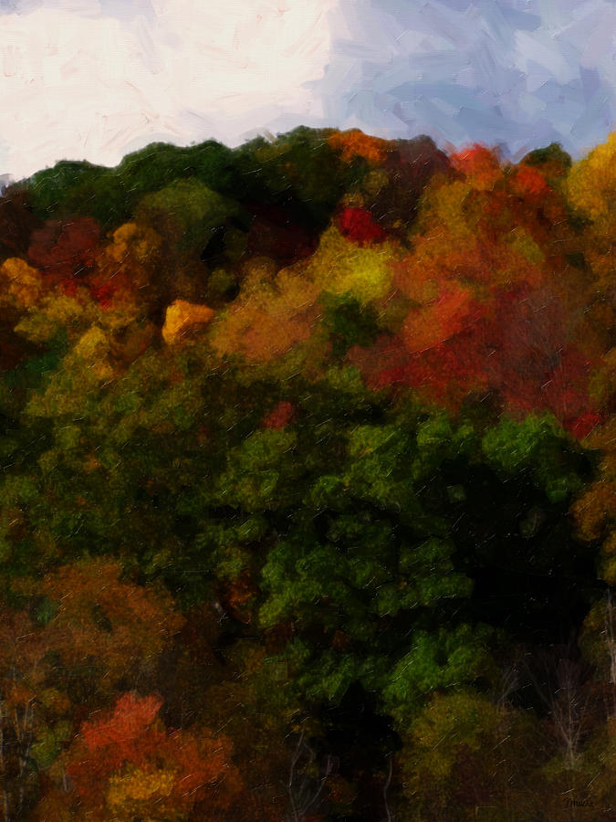 Fall Painting - Hint Of Fall Color Painting by Teresa Mucha