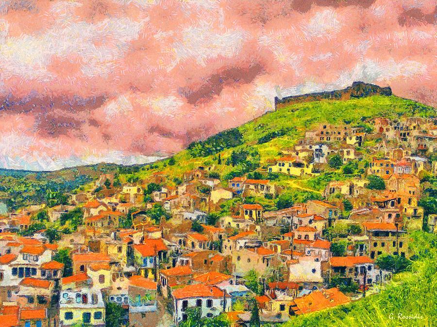 Sky Painting - Hios Volissos by George Rossidis