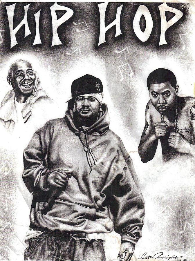 Hip Hop Drawing - Hip Hop by Dustin Knighton