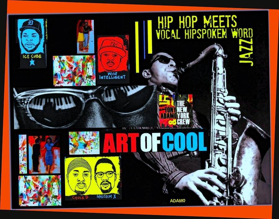 Hip Hop Meets Vocal Hipspoken Word Jazz Digital Art by Tony Adamo