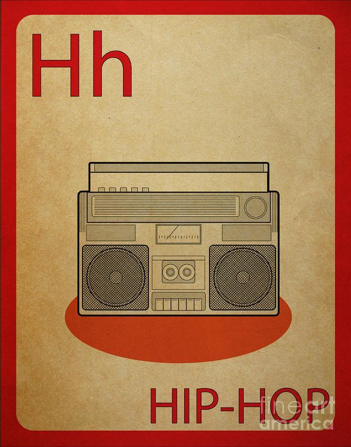 Hip Hop Digital Art - Hip Hop Vintage Flashcard by Mynameisjz JZ