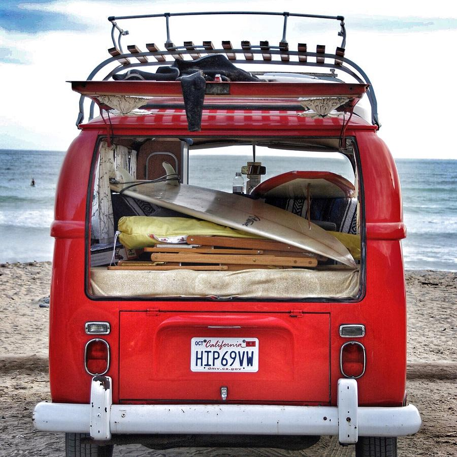 Surf Photograph - Hip VW by Hal Bowles