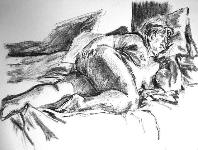 Figure Drawing - Hipplay by Phil El Artista