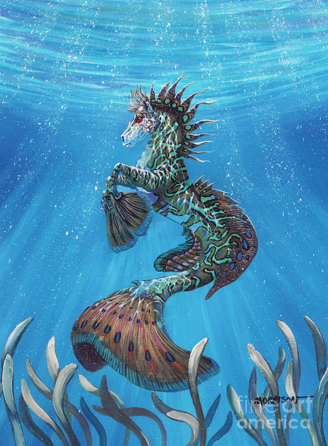 Seahorse Painting - Hippocampus by Stanley Morrison