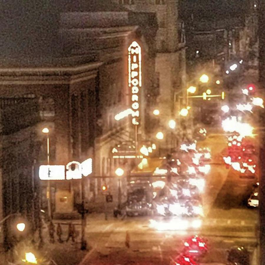 Life Photograph - Hippodrome In Baltimore At Night by Marianna Mills